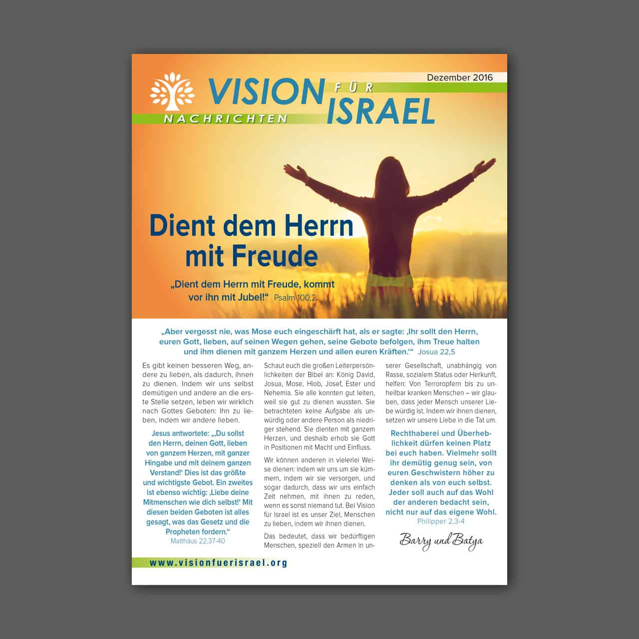 """Mailing """"Vision für Israel"""""""